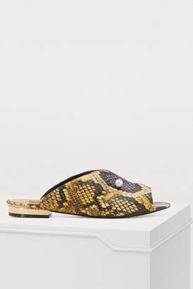 Coliac Lucilla snake-printed mules