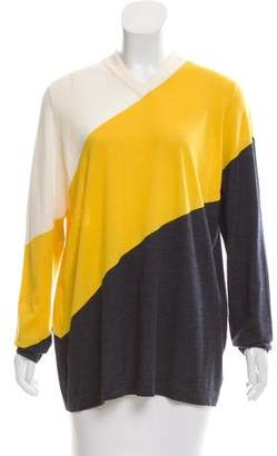 Akris Punto Wool Long Sleeve Top