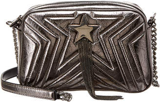 Stella McCartney Star Quilted Small Metallic Leather Shoulder Bag