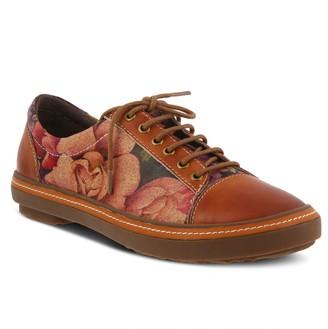 Spring Step L'Artiste Leather Lace-Up Floral Print Shoes -Libbi Rose
