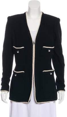 St. John Wool Collarless Jacket