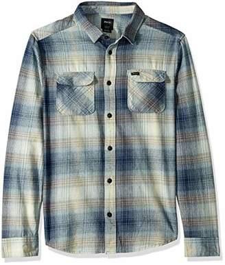 RVCA Men's MUIR Flannel Long Sleeve Woven Button Front Shirt