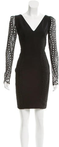 Emilio Pucci Emilio Pucci Lace-Accented Long Sleeve Dress