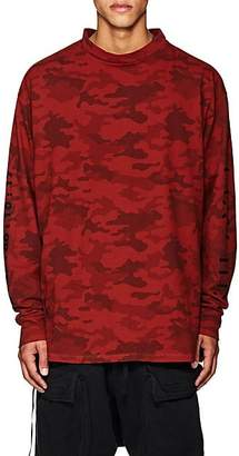 """Taverniti So Ben Unravel Project BEN UNRAVEL PROJECT MEN'S """"PA""""-GRAPHIC CAMOUFLAGE T-SHIRT - RED SIZE XS"""