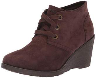 Skechers BOBS Women's Tumble Weed - Urban Rugged. Suede Wedge Bootie w Memory Foam Ankle Boot