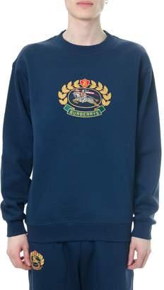 Burberry Night Blue Sweatshirt With Patch