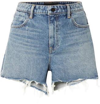 Alexander Wang Bite Frayed Denim Shorts - Blue