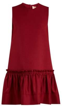 Roksanda Tanaga Contrast Panel Silk Blend Dress - Womens - Red