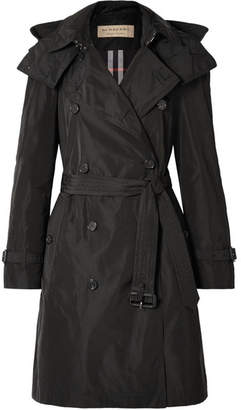 Burberry The Amberford Hooded Shell Trench Coat - Black