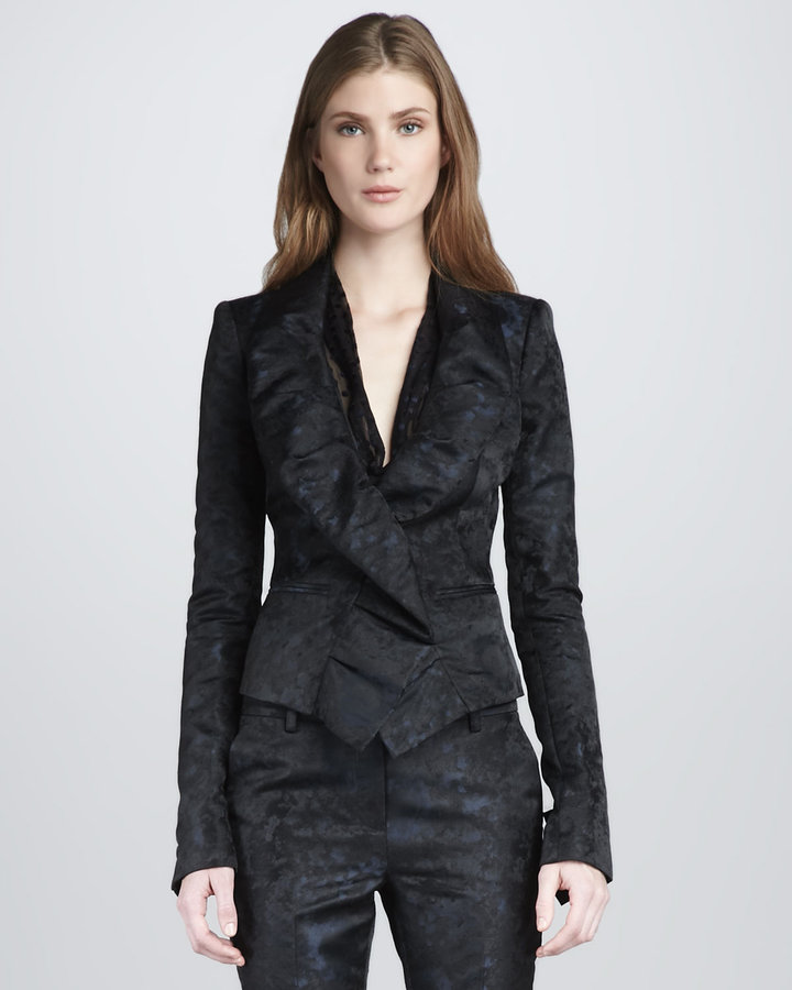 Rachel Zoe Jaclyn Ruffled Jacket