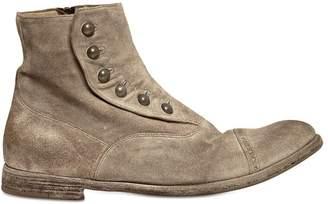 Officine Creative Vintage Suede Ghetta Cropped Boots