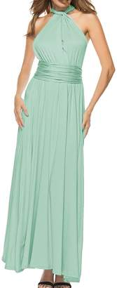 Sexyshine Women's Gown Halter Cocktail Bandage Bridesmaid Long Dress (RO,S)