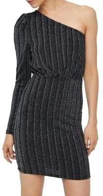 Vero Moda Wiona One-Shoulder Metallic Dress