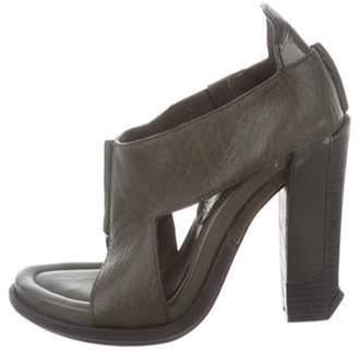 Alexander Wang Crossover High-Heel Sandals Olive Crossover High-Heel Sandals