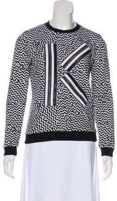 Kenzo Embellished Chevron Sweatshirt