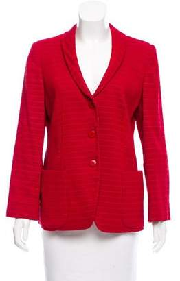 Armani Collezioni Textured Jacquard Blazer