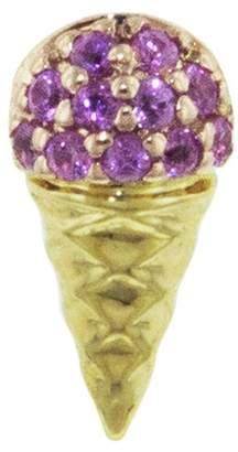 Sydney Evan Pink Sapphire Ice Cream Cone Stud Earring