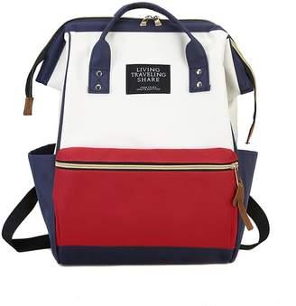 Shein Color Block Satchel Backpack