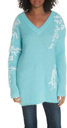 Lewit Lace Applique Tunic Sweater