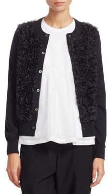 Comme des Garcons Worsted Wool Textured Cardigan
