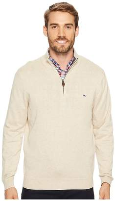 Vineyard Vines Cotton 1/4 Zip Sweater Men's Clothing