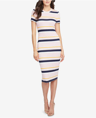 Rachel Roy Striped Ribbed T-Shirt Dress, Created for Macy's