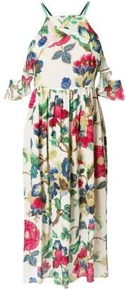 Semi-Couture Semicouture floral midi halter dress
