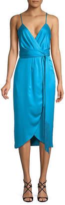 Nicole Miller NEW YORK New York Spaghetti Strap Wrap Dress