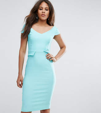 Vesper Tall Pencil Midi Dress With Pocket Detail