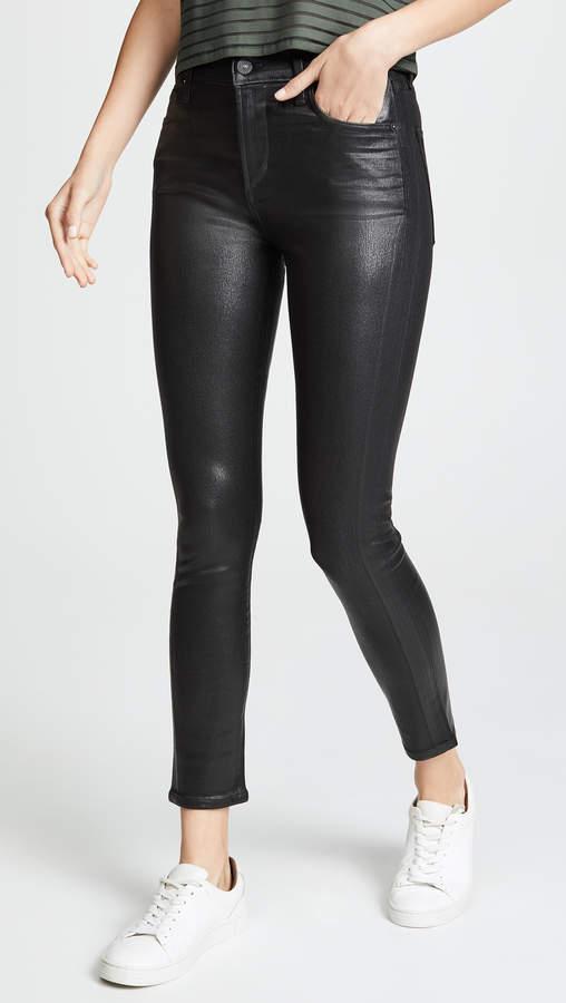 Rocket Leatherette High Rise Skinny Jeans