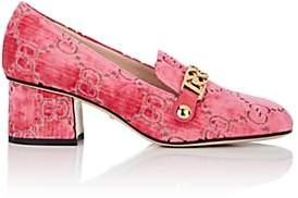 Gucci Women's Sylvie Embossed Velvet Pumps - Md. Pink