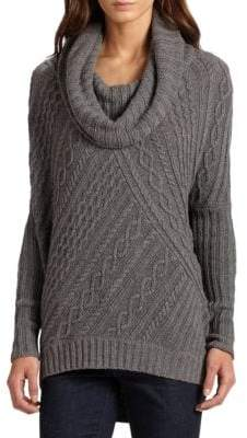 BCBGMAXAZRIA Linden Cabled Cowlneck Sweater