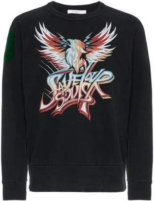Givenchy Save Our Souls print cotton sweatshirt