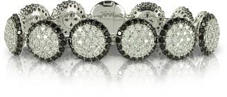 Azhar Two Tone Cubic Zirconia & Sterling Silver Bracelet