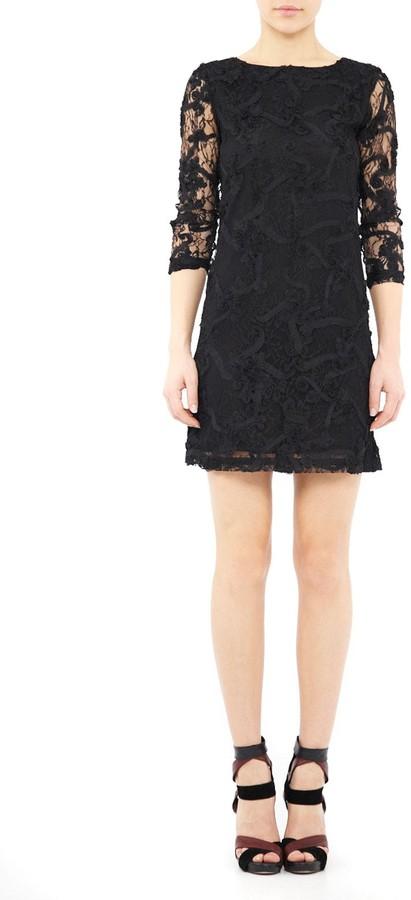 Nicole Miller Floral Mesh Dress