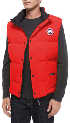 Canada Goose Freestyle Down Puffer Vest, Red $350 thestylecure.com
