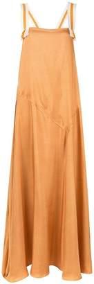 Abadia Silk Twill Panel Dress