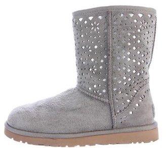 UGG Australia Laser Cut Round-Toe Boots $130 thestylecure.com