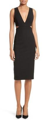 Women's Alice + Olivia Riki Cutout Sheath Dress $295 thestylecure.com