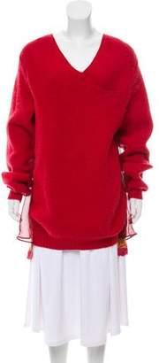 Sacai Contrasted V-Neck Sweater