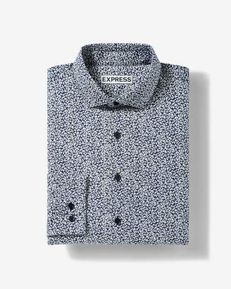 Express Extra Slim Floral Dress Shirt