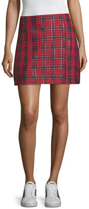 Arizona Plaid Woven Pleated Skirt Juniors