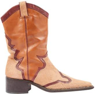 DSQUARED2 Camel Leather Boots