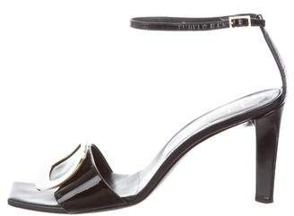 Roger Vivier Patent Leather Ankle-Strap Sandals