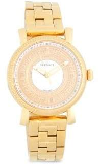 Versace Stainless Steel Three-Link Chain Bracelet Watch