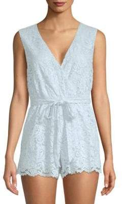 Lovers + Friends Miami Sleeveless Lace Romper