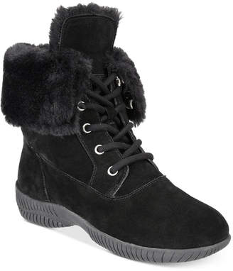Style&Co. Style & Co Angiee Lace-Up Cold Weather Boots, Women Shoes