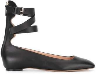 Valentino ankle strap ballerinas