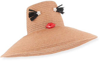 Neiman Marcus Yestadt Millinery Cheeky Hemp Sun Hat, Tan