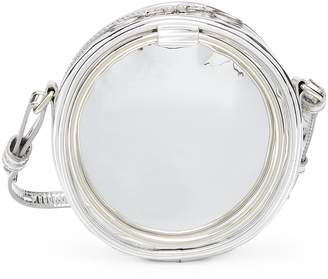 Kara 'Selfie CD' oversized ring mirror faux leather crossbody bag